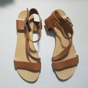 Seychelles Brown Leather Flat Sandals